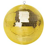 Gold Glitter Mirror Ball - 30cm