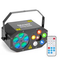 Beamz Sway Gobo RGBWA LED Light with Strobe & Laser Including Remote