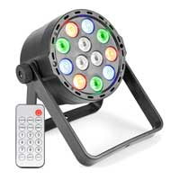 Beamz PLS25 Par Wash Light DMX USB Rechargeable RGBW LED with Remote