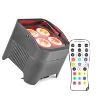 Beamz Battery Operated PAR Light RJ45 DMX 4X10W RGBAW-UV LED