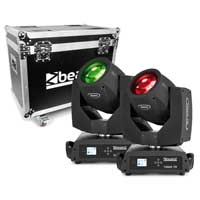 Beamz Professional Tiger 7R Hybrid Moving Head Lights with Flightcase