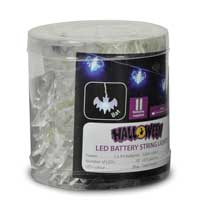 QTX Light HW10-BATBL Blue Bats LED Battery String Lights