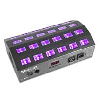 Beamz BUV463 LED UV Ultraviolet Strobe Light DMX