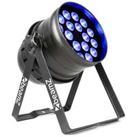 Beamz PAR 64 BPP100 LED Wash Uplighter Light with DMX 18x 6W