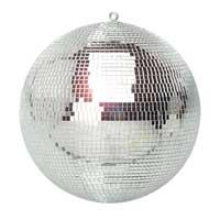 Silver Glitter Mirror Ball, 30cm