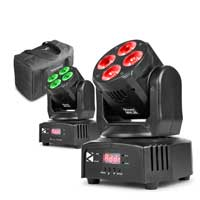 Beamz 150.532 Pair MHL36 LED Moving Head Light Set with Bag