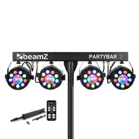 Beamz Partybar3 4x PAR Light with Magic Ball & Stand