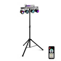 Max Partybar Lighting System 2x Jelly Moon, 2xPAR and UV/Strobe