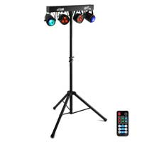 Max Partybar Lighting System 2x PAR, 2x Jelly Moon Battery Powered