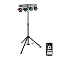 Max Partybar Lighting System 4x PAR Battery Powered