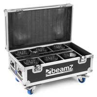 BeamZ FCC66 Charging Flight Case for 6 BBP66 LED Uplighters