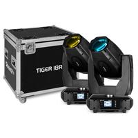 BeamZ Professional Tiger 18R Moving Head Lights with Flightcase