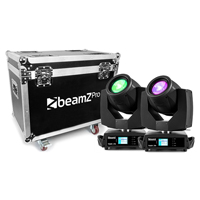 BeamZ Professional Tiger E 7R Moving Head Lights with Flightcase