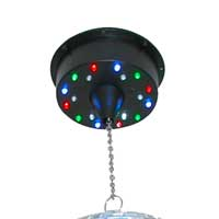 BeamZ Mirror Ball Motor with LED Disco Lights