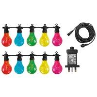 Luxform Maui LED Multi-Coloured Bulb String Lights, 10-Pack