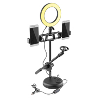 Vonyx RL20 LED Ring Lamp with Table Stand