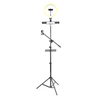 Vonyx RL25 LED Ring Lamp with Floor Stand