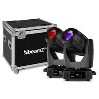 BeamZ Professional Tiger 17R Moving Head Lights with Flightcase