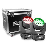 BeamZ Professional MHL1915 Moving Head Lights with Flightcase