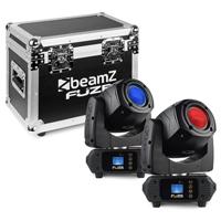 BeamZ Fuze75S Moving Head Lights with Flightcase