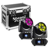 BeamZ Fuze610Z Moving Head Lights with Flightcase