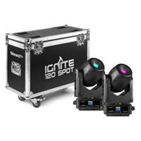 BeamZ Professional IGNITE120 Moving Head Lights with Flightcase
