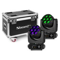 BeamZ Professional MHL740 Moving Head Lights with Flightcase