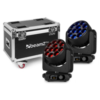 BeamZ Professional MHL1240 Moving Head Lights with Flightcase