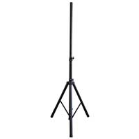 QTX Sound Black Aluminium 35mm Pole Tripod Speaker Stand