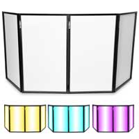 Foldable Disco DJ Lighting Screen 4 Panel Facade Deck Stand Booth w/ Carry Bag