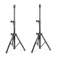 Vonyx Folding Tripod Speaker Stands Pair