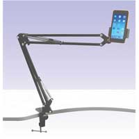 NJS NJS068G Telescopic Mobile/iPad Stand with G Clamp Mount