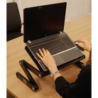 NJS NJS068H Adjustable Laptop Tablet Stand with USB fans and Mouse Holder