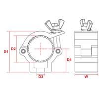 BeamZ BC35-75 Compact Half Coupler Slimline 75kg Aluminium Pair