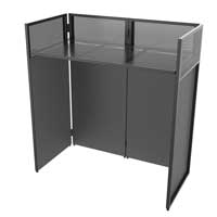 Vonyx DB4 Foldable DJ Booth Stand with Case