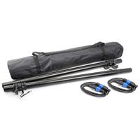 Vonyx Speaker Mounting Poles & NL4 Cables Pair