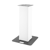 BeamZ P30 Truss Tower with White Lycra, 1m