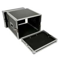 "Aluminium Flightcase Fits 8x 19"" Units Mobile DJ Disco Equipment Protective Case"
