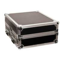 "Mixer Rack Case 10x2 19"" Units Mobile DJ Disco Equipment Protective Travel Case"