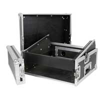 "Mixer Rack Case 8x2 19"" Units Mobile DJ Disco Equipment Protective Travel Case"