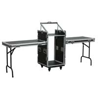 PD Mixer Flight Case with Tables, 519 x 677 x 890mm