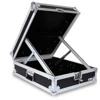 "12x 19"" Rack Rail Unit Mixer Flight Case Mobile DJ Disco Studio Equipment"