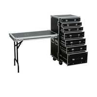 Multiplex Roadie Engineer Flight Case Table 7 Drawer Equipment Concert Gig Tech