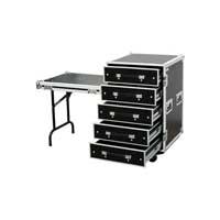 "Multiplex Roadie Engineer Flight Case Table 5 Drawer 19"" Equipment Concert Gig"