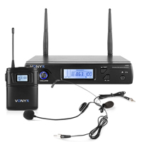 Vonyx WM61B Wireless Bodypack Microphone System (UHF 16-Channel)