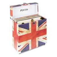 Vinyl Record Case LP Storage Box - Fenton RC30 Union Jack