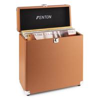 Vinyl Record Case LP Storage Box - Fenton RC30 Light Wood