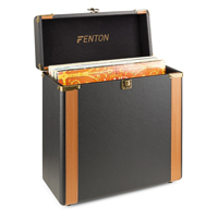 Vinyl Record Case - Fenton RC35 Leather Look Vinyl Finish