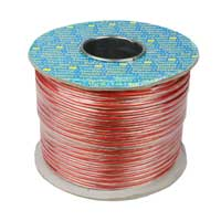 Skytronic 2 Core Copper Speaker Cable Transparent / Red 100m Cable