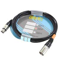 Chauvet DJ 5-Pin Male XLR to Female XLR 5-Pin DMX Lighting Cable 1.5m